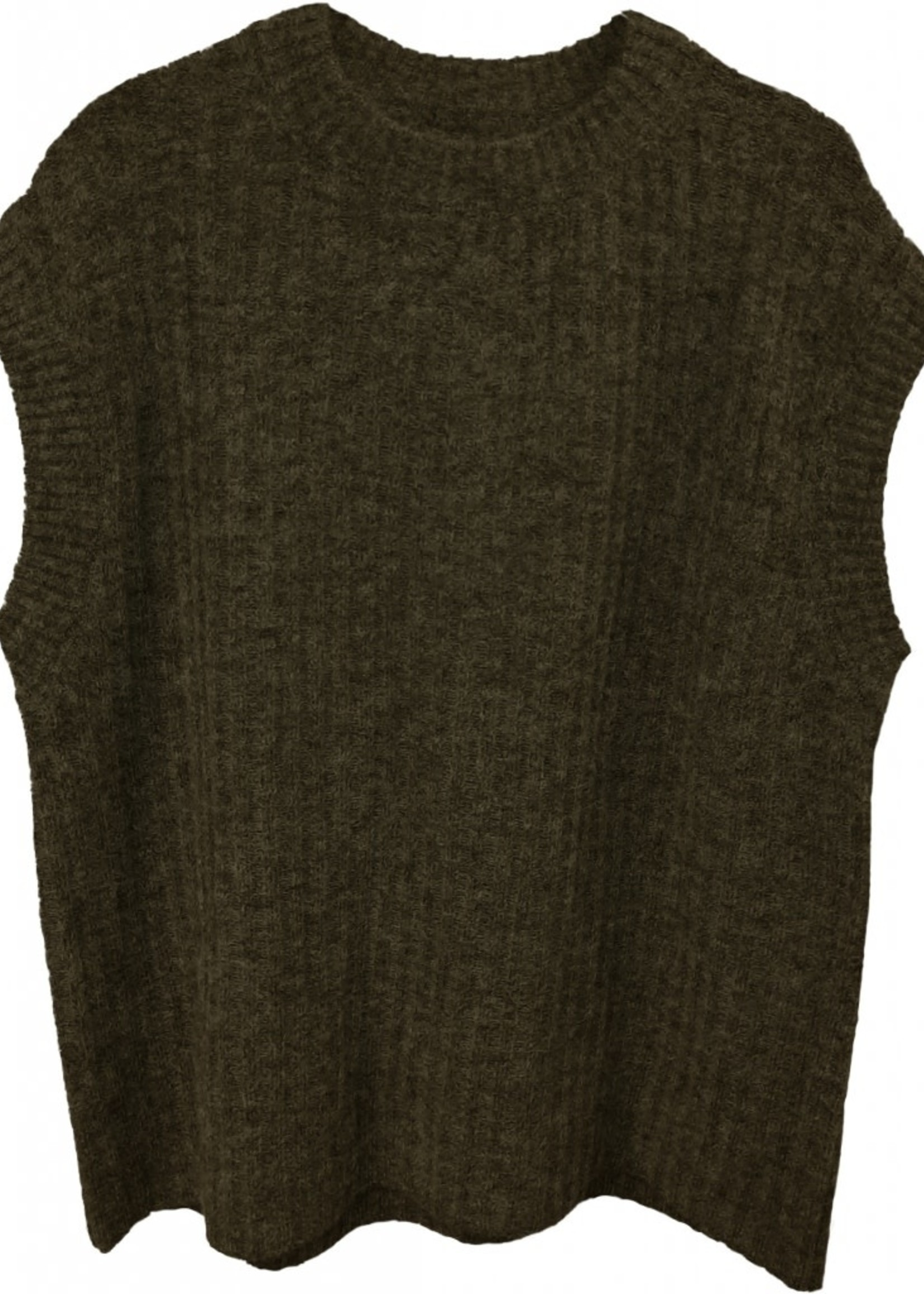 Norr O-neck knit waistcoat army