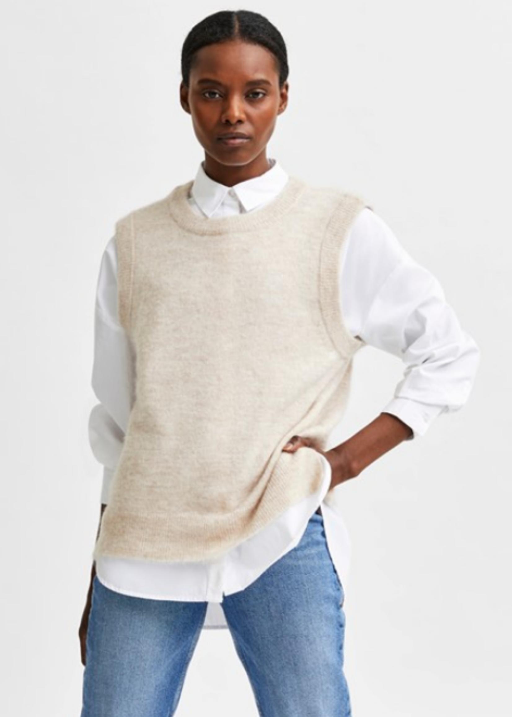 Selected Femme Selected Femme Lulu knit vest o-neck