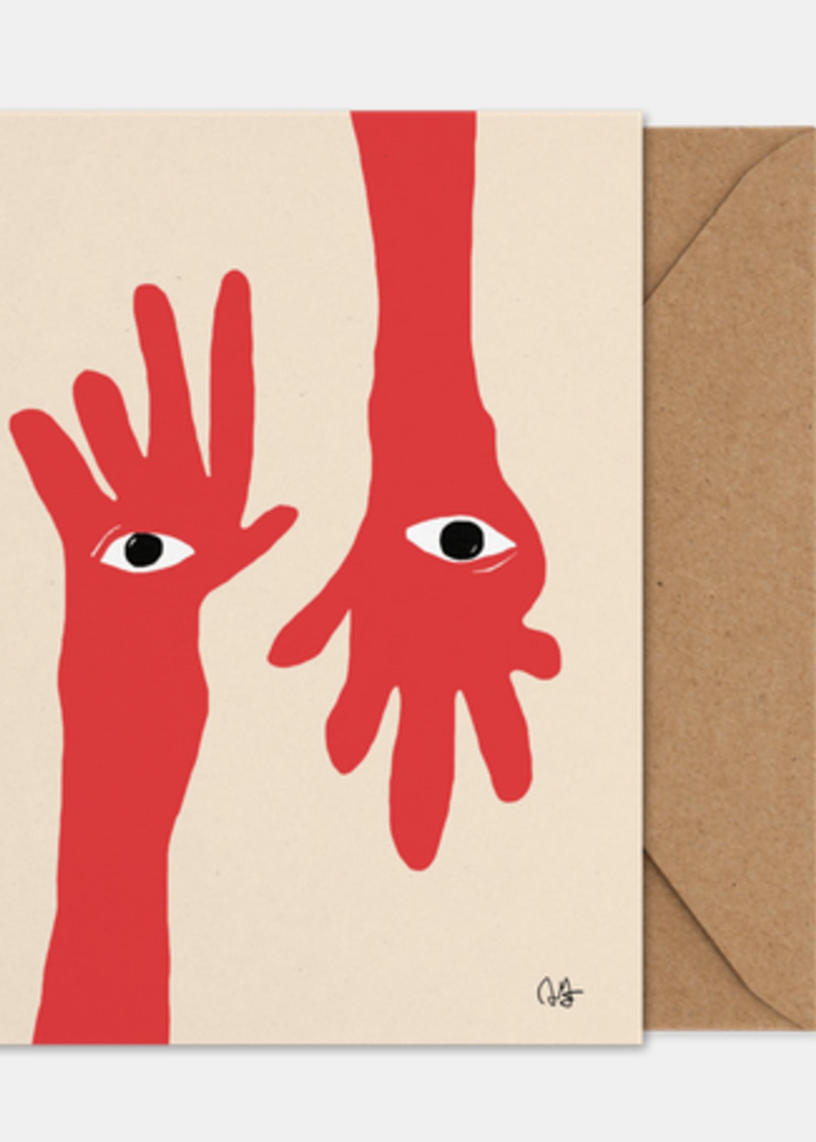 Paper Collective Hamsa hands Art Card