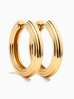 Eline Rosina Paloma hoops gold plated