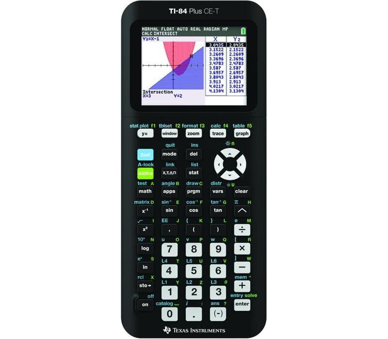 Texas Instruments TI-84 Plus CE-T met examenstand