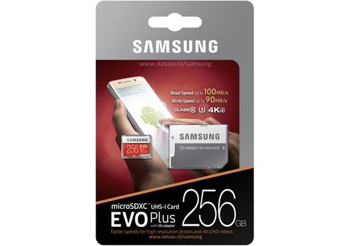 Samsung EVO Plus 256GB microSDXC Card + SD-adapter