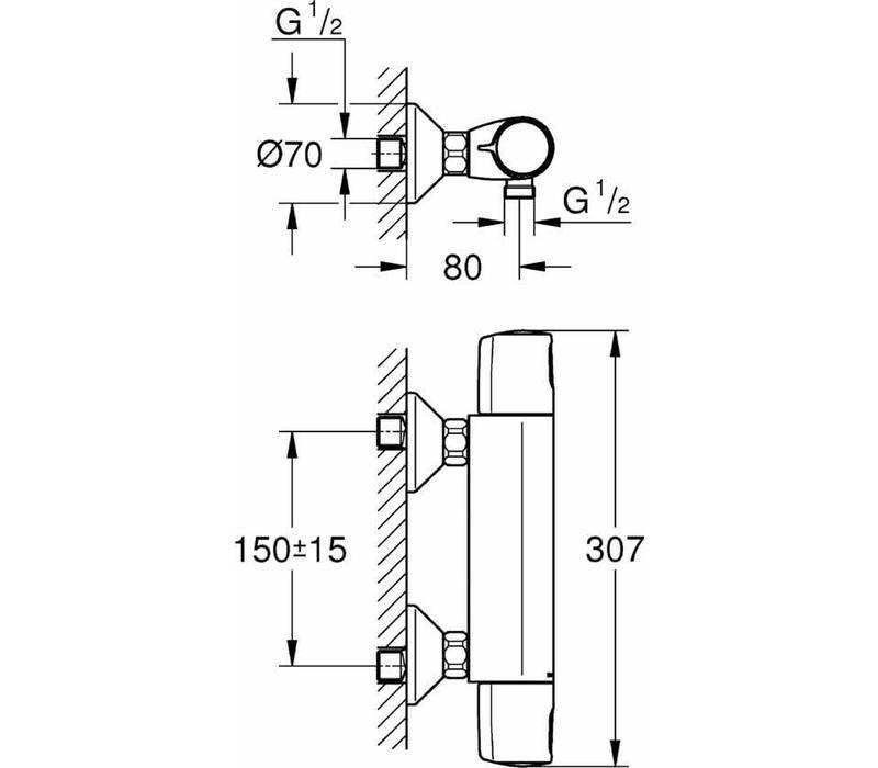 Grohe Precision Trend New h.o.h. 15 cm