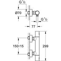 GROHE Precision Joy Thermostatische Douchekraan - 15 cm hartafstand