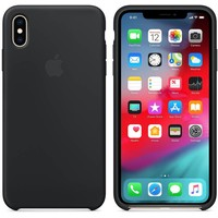 Apple iPhone Xs Max Silicone Back Cover Zwart  MRWE2ZM/A