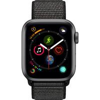 Apple Watch Series 4 40mm Space Gray Aluminium/Zwarte Nylon Sportband