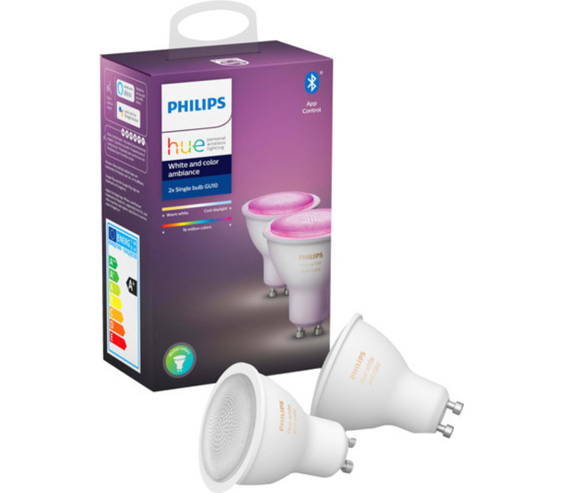 Philips Hue White and Color GU10 Bluetooth Duopack