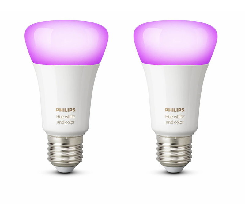 Philips Hue White and Color E27 Bluetooth Duo Pack