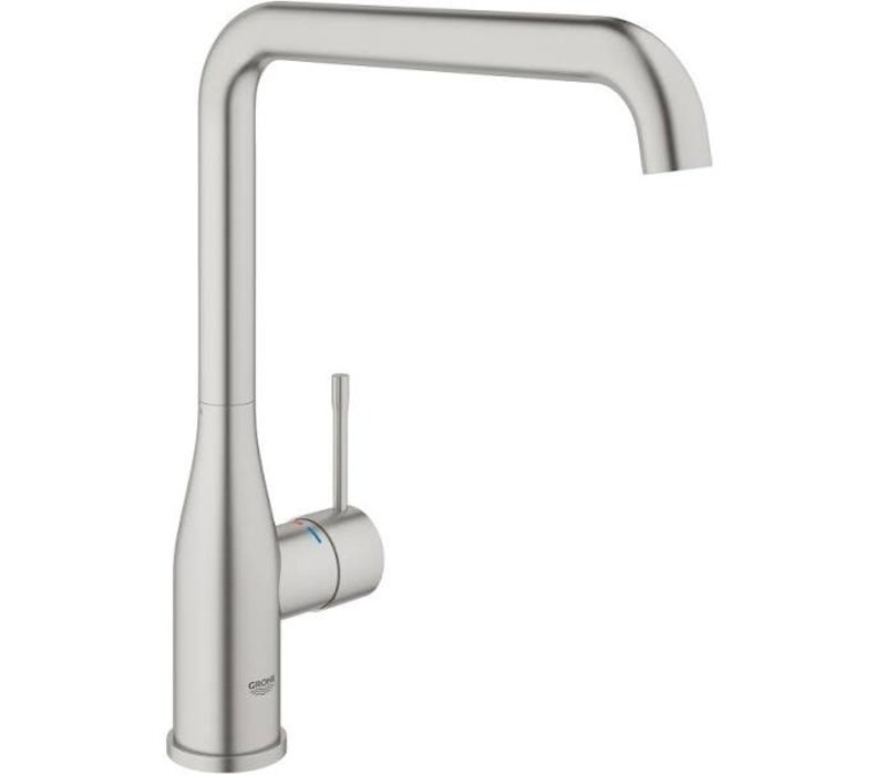 Grohe Colours Keukenkraan Essence New RVS met L-uitloop