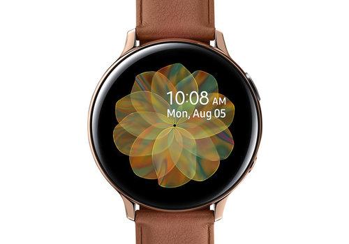 Samsung Galaxy Watch Active2 Goud/Bruin 44 mm RVS