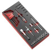 Facom MODM.RL161-36 Doppen, bitset, inbusset | Foam | 1/4 Inch 6-Knt | Foam Module