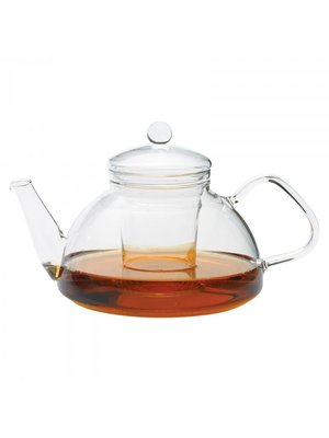 Glazen theepot  van hittebestendig borosilicaatglas 1,2 liter