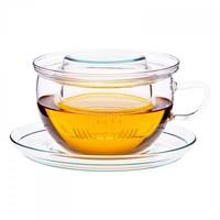 Tea Time theeglas van Jena met glazen filter