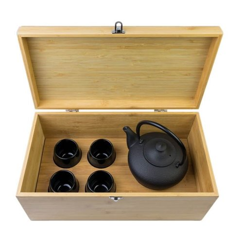 Bredemeijer Cast Iron Teaset In Luxury Bamboo Box
