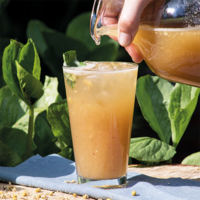 Recept Ice Tea Kamille Perzik