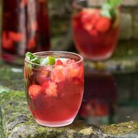 Aardbeien Honing Hibiscus Ice Tea