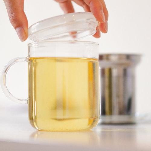Trendglas Jena Glazen thee mok met filter en deksel