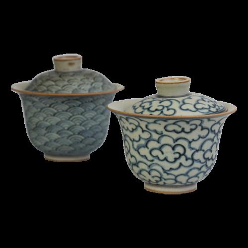 Handgemaakte Qinghua Gaiwan