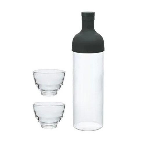Icetea fles met filter en kopjes