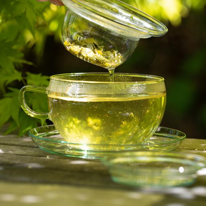 Groene losse thee zetten
