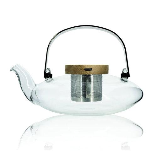 Ogo Living Glazen borosilicaat theepot 500 ml met filter