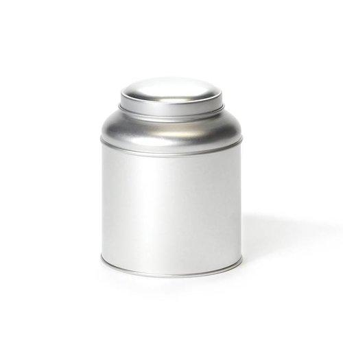 Theeblikje met koepel en aromadeksel