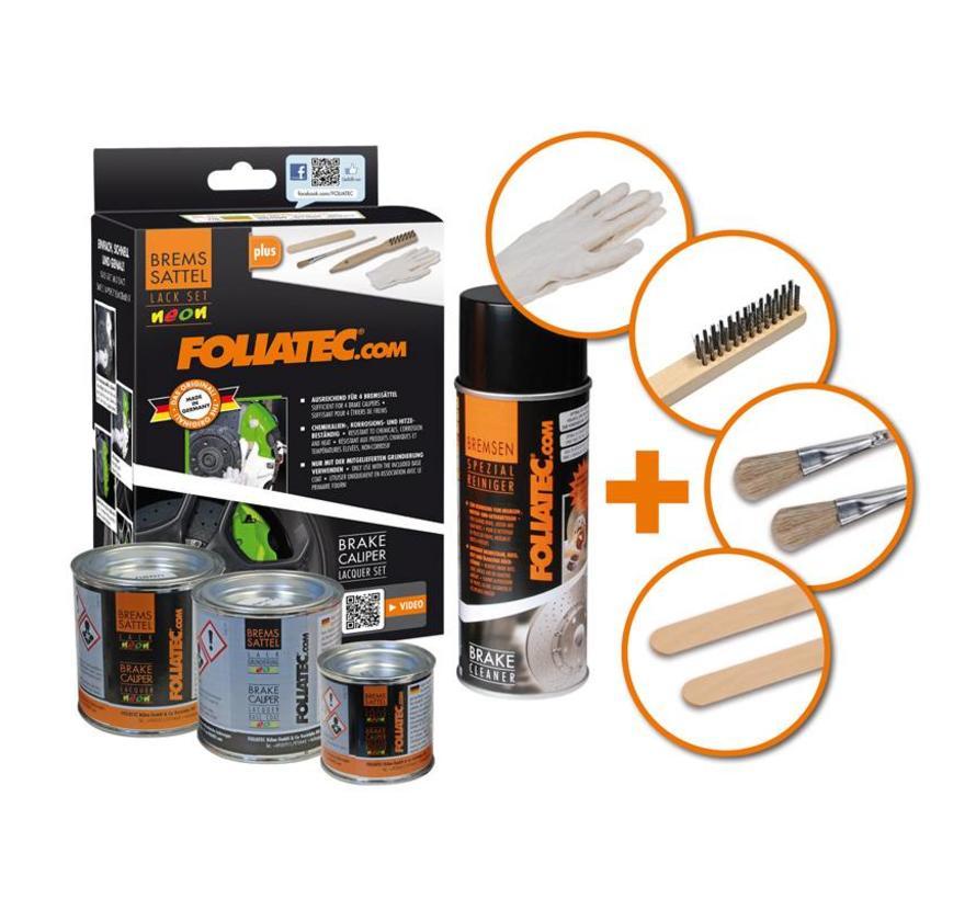 Foliatec Remklauwlakset - NEON oranje - 4 Komponenten