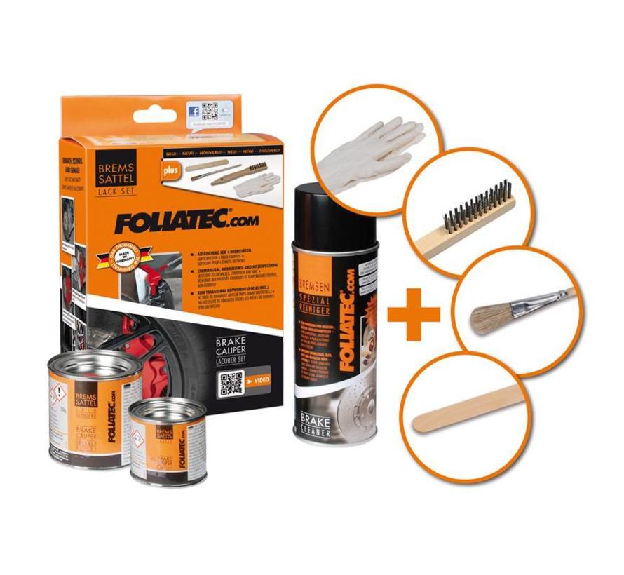 Foliatec Remklauwlakset - flame oranje - 3 Komponenten
