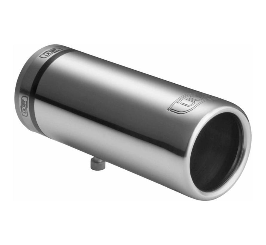 Ulter Sport Uitlaatsierstuk - Rond O50mm - Lengte 100mm - Montage 30-40mm - RVS
