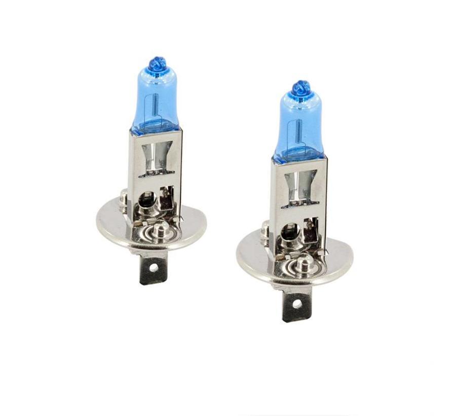 SuperWhite Blauw H1 55W/12V/4200K Halogeen Lampen, set a 2 stuks (E13)