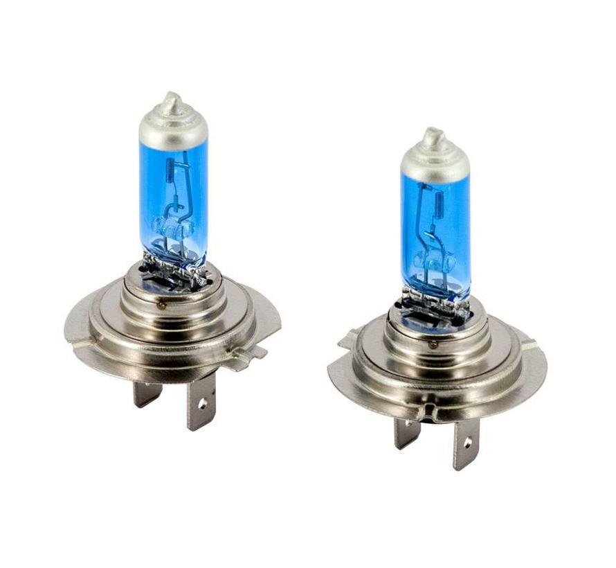 SuperWhite Blauw H7 55W/12V/4200K Halogeen Lampen, set a 2 stuks (E13)