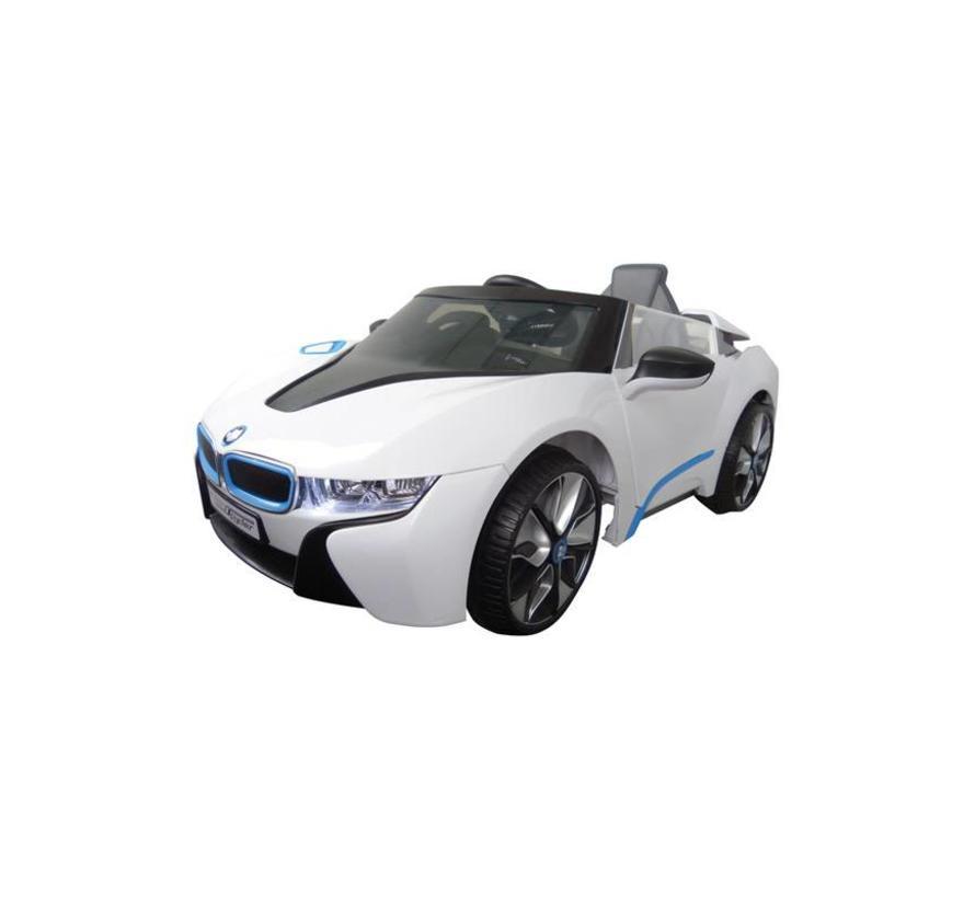 Accu-Auto BMW i8 Wit - 6V - incl. MP3 en afstandsbediening - vanaf 3 jaar