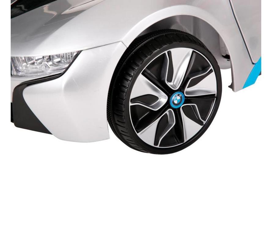 Accu-Auto BMW i8 Zilver - 12V - incl. MP3 en afstandsbediening - vanaf 3 jaar