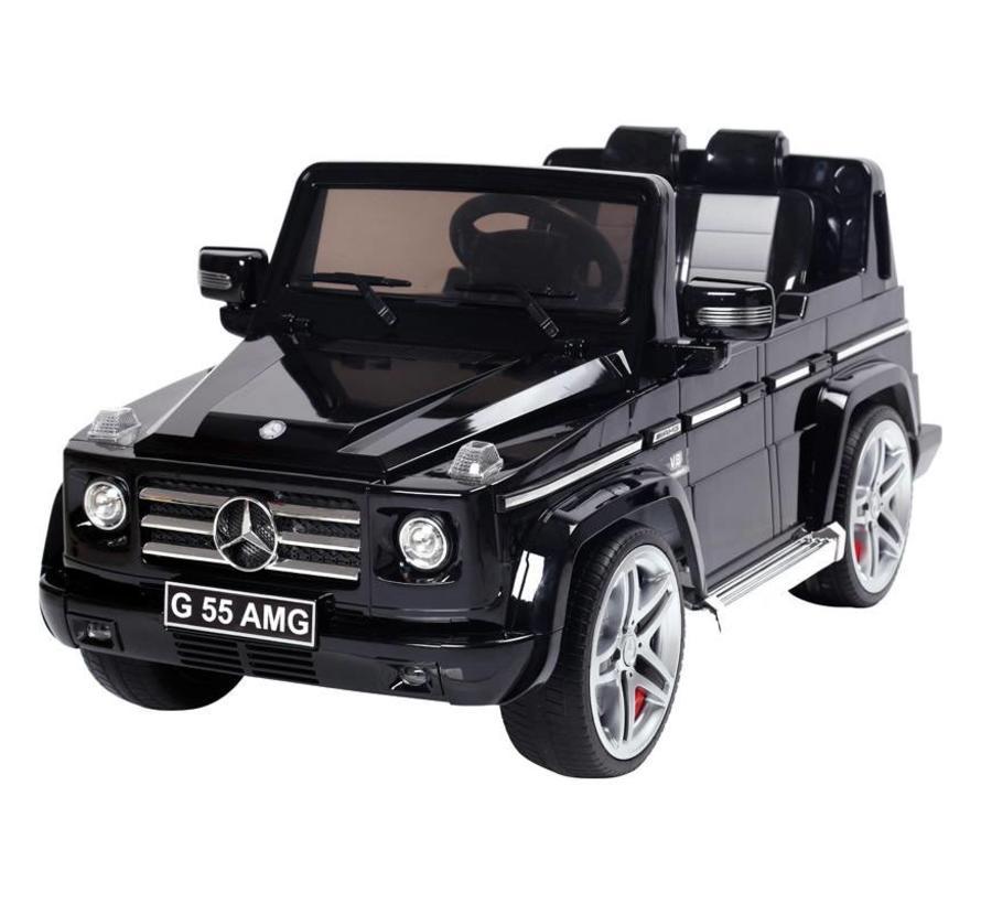 Accu-Auto Mercedes G55 AMG Zwart - 12V - incl. MP3 en afstandsbediening - vanaf 3 jaar
