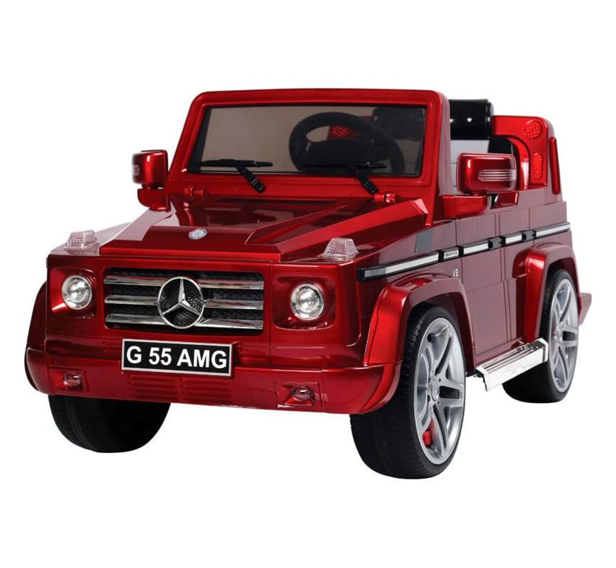 Accu-Auto Mercedes G55 Rood - 12V - incl. MP3 en afstandsbediening - vanaf 3 jaar