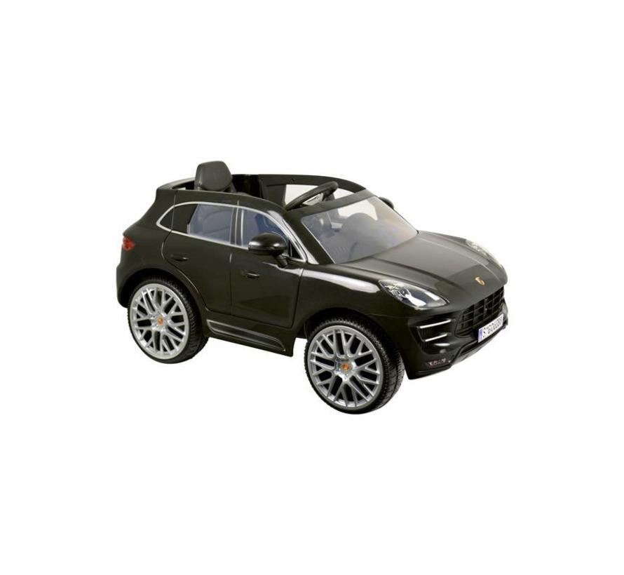 Accu-Auto Porsche Macan Zwart - 12V - incl. MP3 en afstandsbediening - vanaf 3 jaar