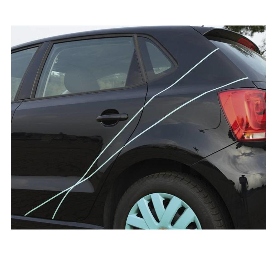 Foliatec PIN Striping voor velgen incl. montage hulpstuk - turquoise - 4 strips 6mmx2,15meter & 1 testrol 6mmx40cm