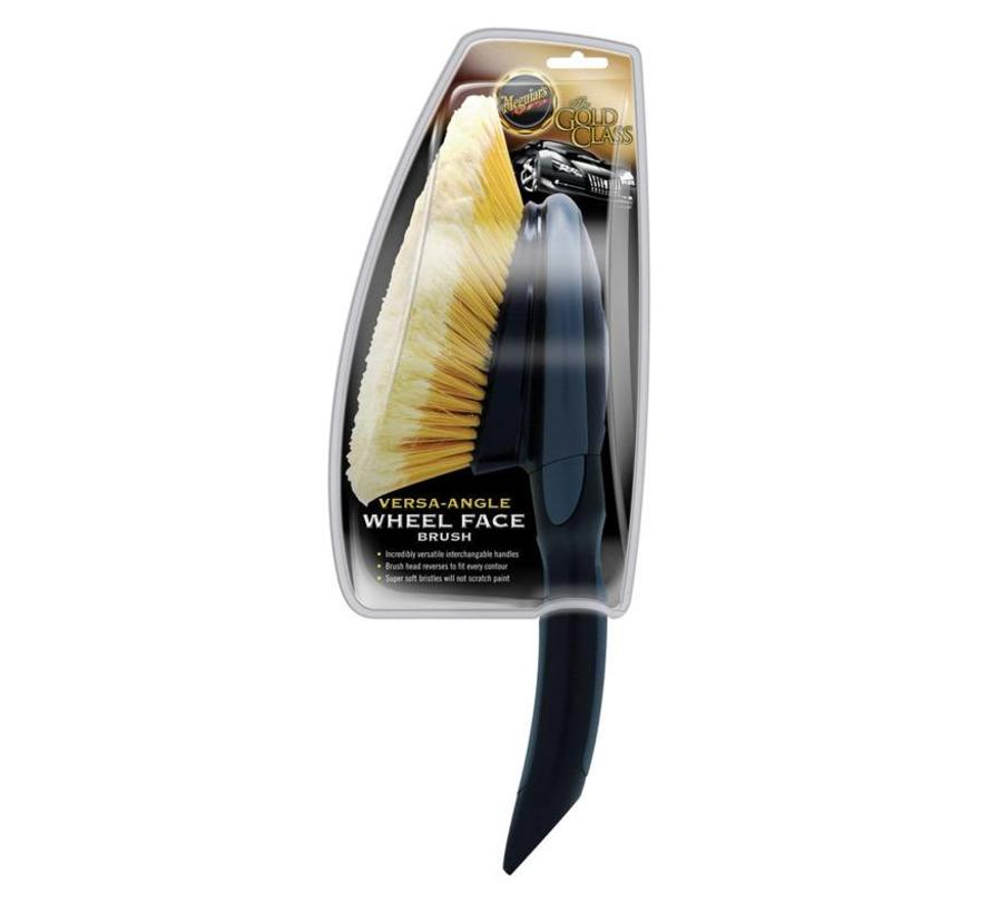 Meguiars Versa-Angle Wheel Face Brush Short Handle 15.24x65.09x12.38cm