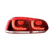 Autostyle Set R-Look LED Achterlichten Volkswagen Golf VI 2008-2012 excl. Variant - Rood/Helder