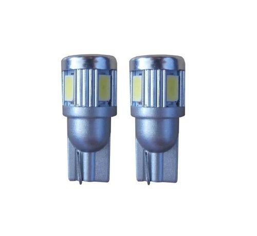 Xenonlamp 6 SMD LED stadslicht W5W