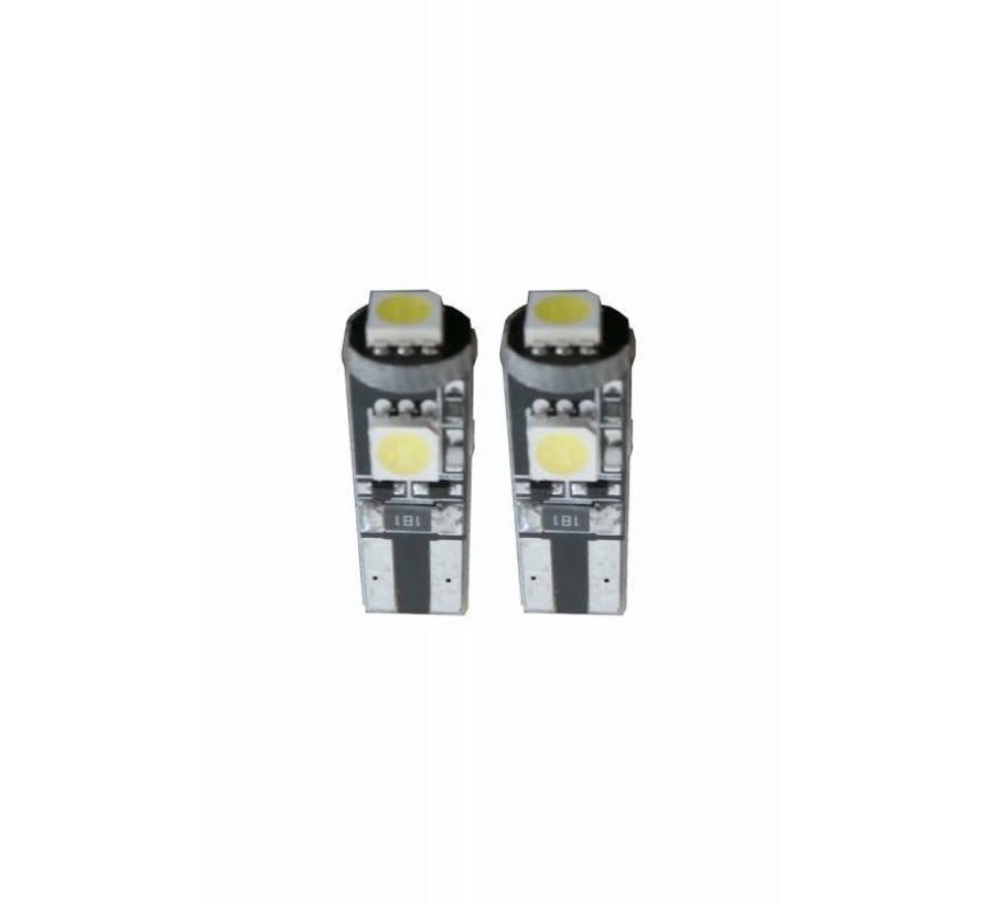 W5W-T10 Canbus LED Stadslicht 3 SMD - Wit