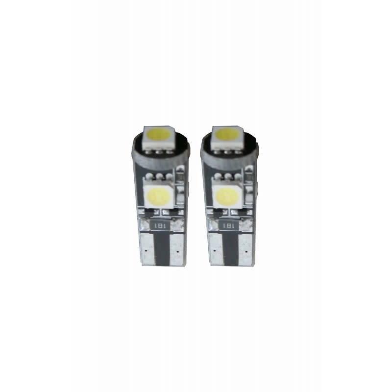 Xenonlamp W5W-T10 Canbus LED Stadslicht 3 SMD - Wit