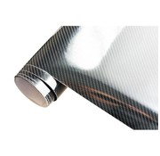 Autostyle 5D Carbonfolie 152x30cm Glanzend Zwart, zelfklevend