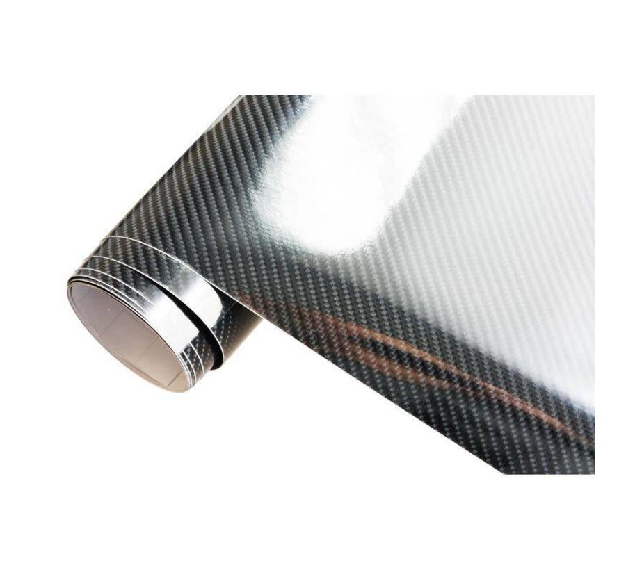 5D Carbonfolie 152x30cm Glanzend Zwart, zelfklevend