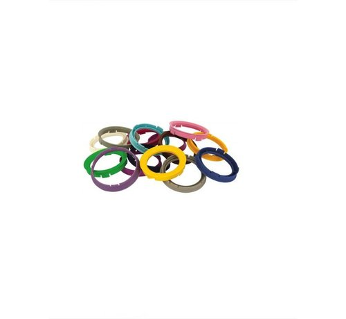 Autostyle Set TPI Centreerringen - 76.1-56.1mm - Ruby Rood