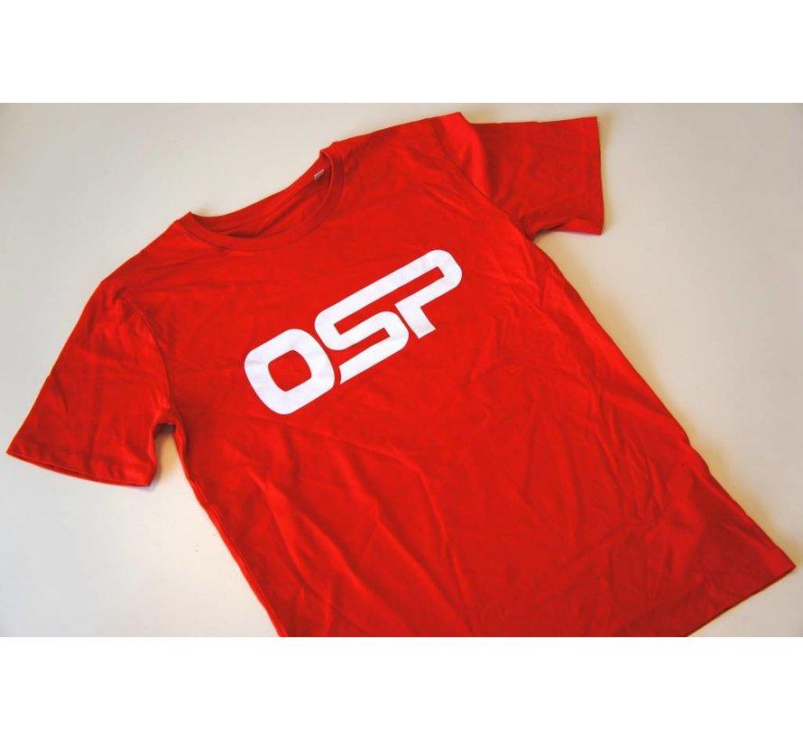 """T-shirt OSP """"Logo OSP"""" ROOD"""