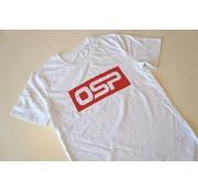 """OSP T-shirt OSP """"KADER ROOD"""" WIT"""