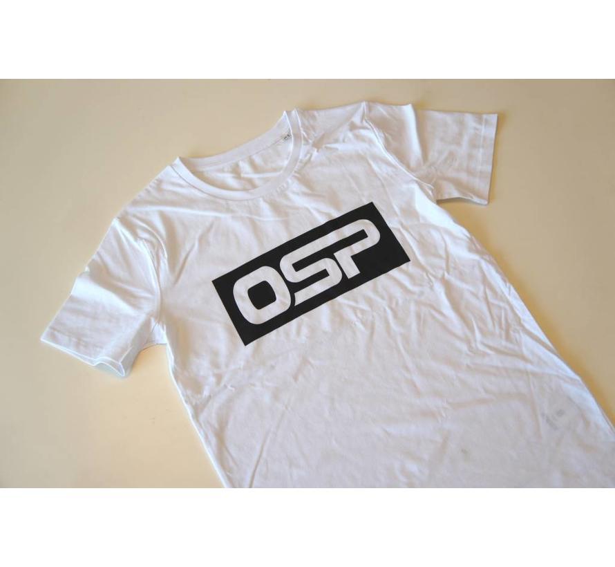 "T-shirt OSP ""KADER ZWART"" WIT"