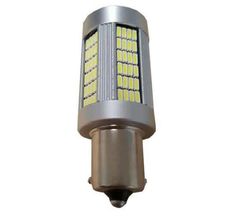 Canbus HP LED Achteruitrijlamp BA15S-Wit per stuk