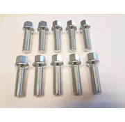 ST suspensions Wielbout M12x1,5x35mm Bolconisch R12 silver (10 stuks)